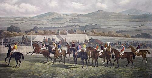 The Start, Punchestown (Restrike Etching) by Sturgess