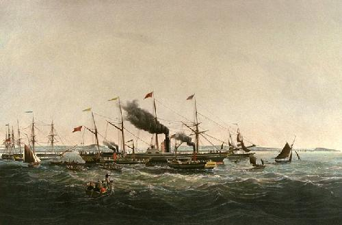 Great Western (Restrike Etching) by Samuel Walters