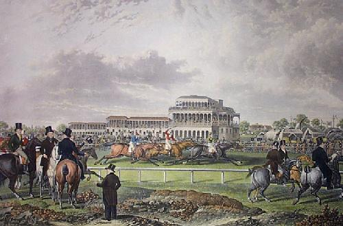 Newton Races (Restrike Etching) by Charles Towne