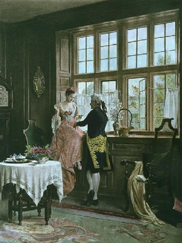 Held by a Thread (Restrike Etching) by John Fitz Marshall