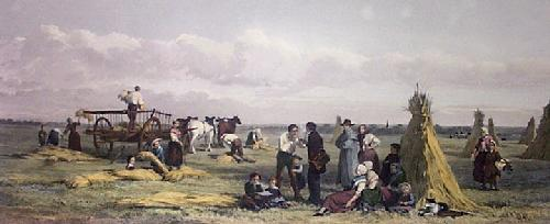 Field of Agincourt 1857 (Restrike Etching) by John Absolom
