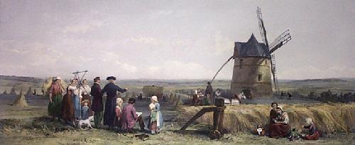 Field of Cressey 1857 (Restrike Etching) by John Absolom