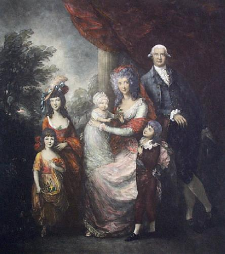 Baillie Family (Restrike Etching) by Thomas Gainsborough