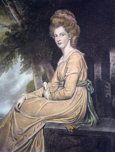 Caroline, Countess of Carlisle (Restrike Etching) by George Romney