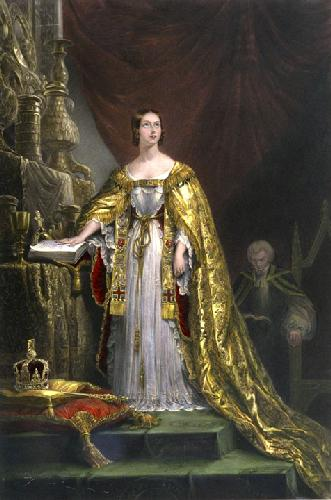 Queen Victoria Taking Oath (Restrike Etching) by George Hayter