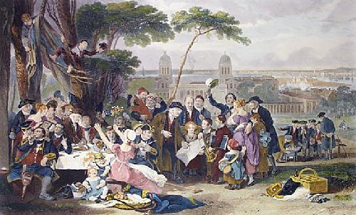 Greenwich Pensioners (Restrike Etching) by John Burnett