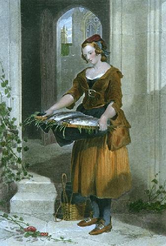 Angler's Daughter (Restrike Etching) by Sir Edwin Henry Landseer