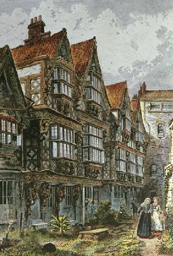 St Peter's Hospital Bristol (Restrike Etching) by Charles Bird