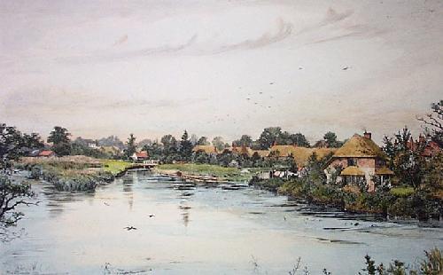 Village of Chilton Foliat (Restrike Etching) by Frederick Albert Slocombe