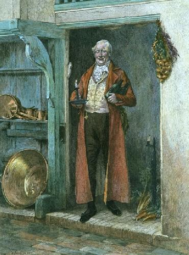 His Favourite Bin (Restrike Etching) by Walter Dendy Sadler