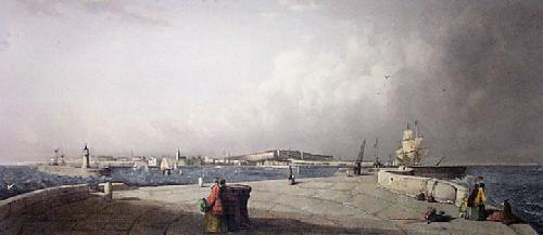 Ramsgate Harbour (Restrike Etching) by Anonymous