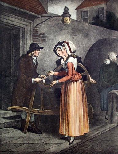 Grinding Knife (Restrike Etching) by Francis Wheatley
