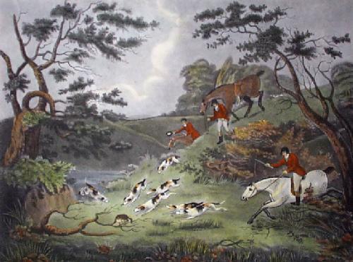 Fox Hunting - Plate 3 (Restrike Etching) by Dean Wolstenholme