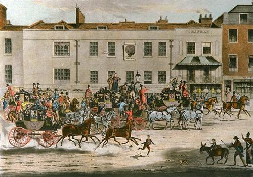North Country Mails (Restrike Etching) by James Pollard