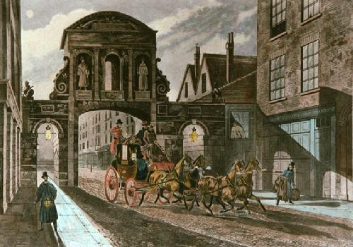Temple Bar (Restrike Etching) by James Pollard