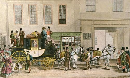 Blenheim Coach (Small) (Restrike Etching) by Robert Havell