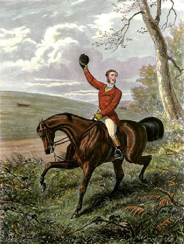 Tally Ho! Away (Restrike Etching) by Inglis Sheldon-Williams