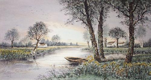 In the Gloaming (Restrike Etching) by Anonymous