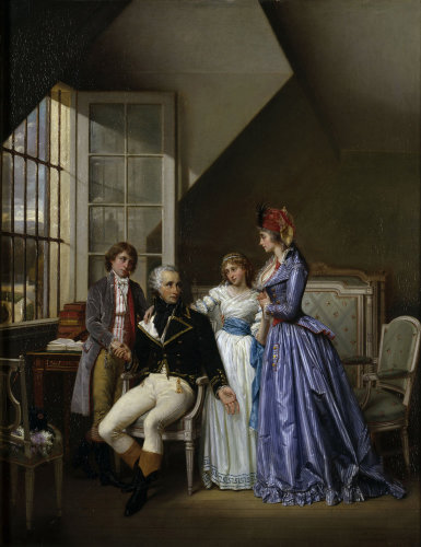 Josephine visiting her husband Alexandre de Bauharnais by Jean Louis Victor Viger du Vigneau