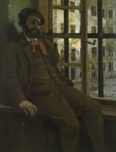 Self-portrait in prison by Gustave Courbet