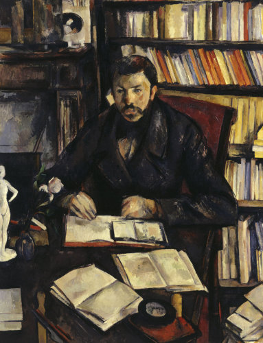 Gustave Geffroy by Paul Cezanne