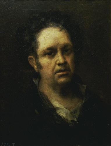 Self-portait aged 69 by Francisco de Goya