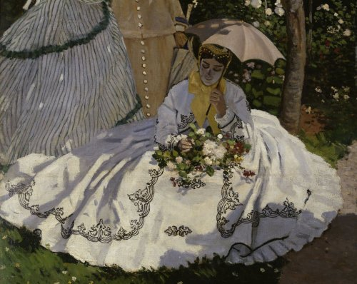 Women in the garden (detail) by Claude Monet