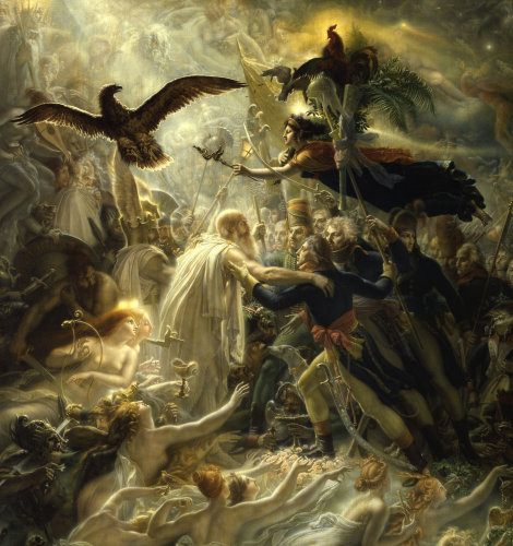 Ossian receives heroes of the Republic by Anne Louis Girodet de Roucy-Trioson