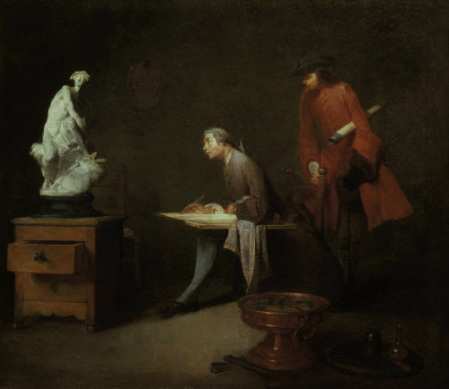 The Drawing study by Jean Baptiste Chardin