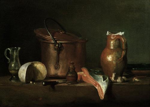 Still-life with copper pot by Jean Baptiste Chardin
