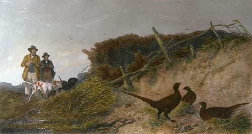 Pheasant (Restrike Etching) by Richard Ansdell