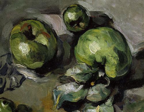 Green apples (detail) by Paul Cezanne