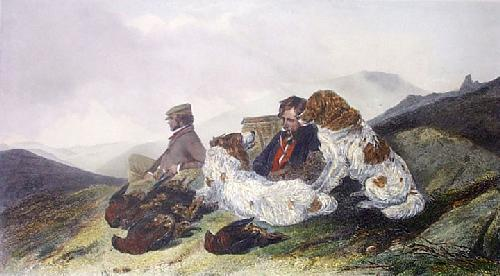Grouse (Restrike Etching) by Richard Ansdell