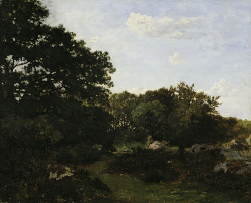 Edge of the forest in Fountainbleau by Jean Frederic Bazille
