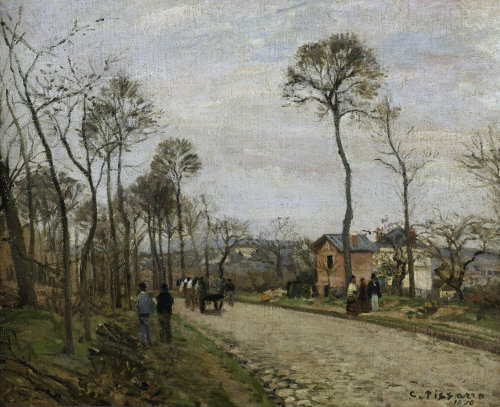 The road of Louveciennes by Camille Pissarro