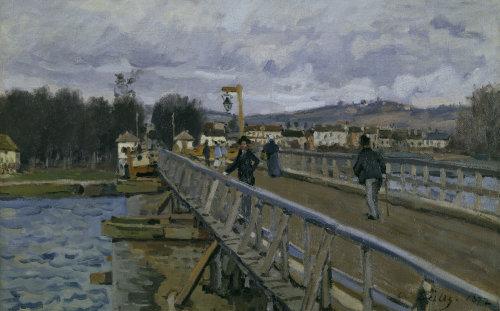Footbridge in Argenteuil by Alfred Sisley