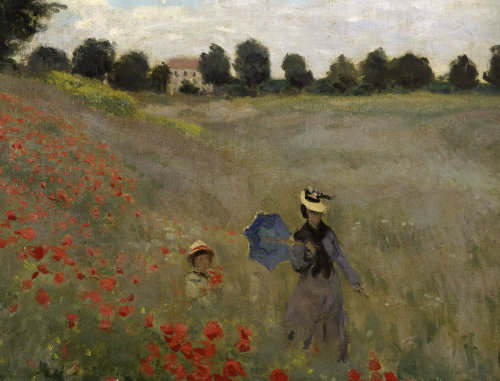 Poppy field at Argenteuil (detail) by Claude Monet