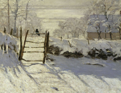The Magpie (detail 1) by Claude Monet