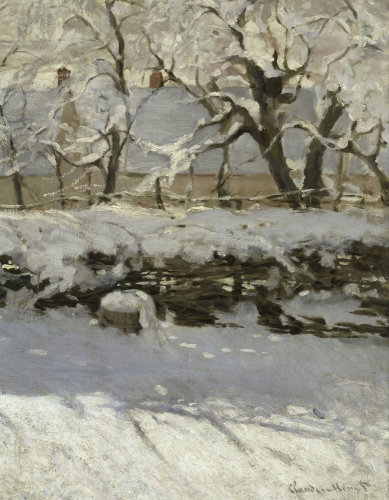 The Magpie (detail 2) by Claude Monet
