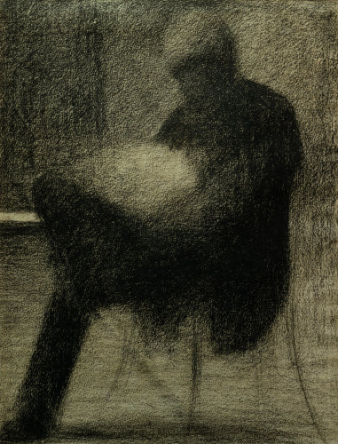 Man reading - The Father of the artist by Georges Seurat