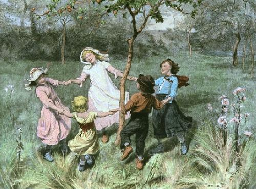 Ring a Ring of Roses (Restrike Etching) by Frederick Morgan