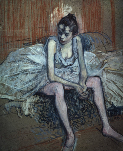 Sitting Dancer by Henri de Toulouse-Lautrec