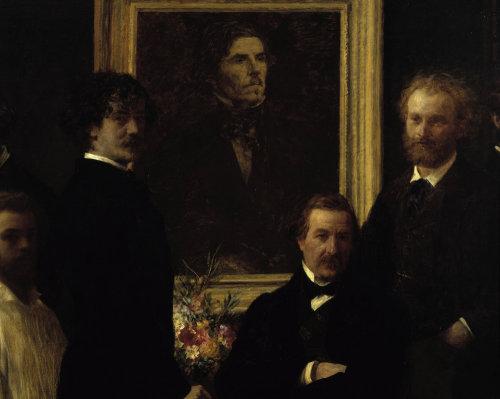 Hommage a Delacroix by Ignace-Henri-Théodore Fantin-Latour