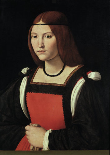 Portrait Of A Woman Art Print By Giovanni Antonio Boltraffio At King Mcgaw