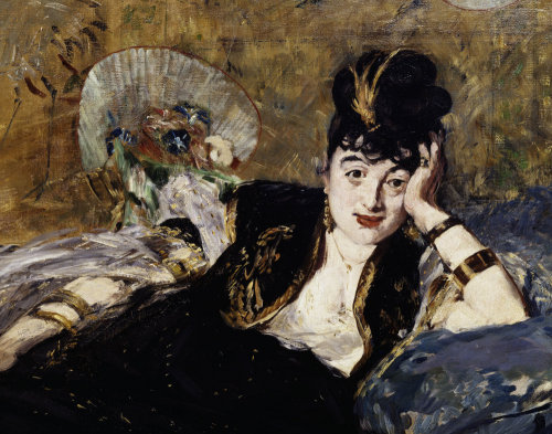 The Lady with the fans (Detail) by Edouard Manet