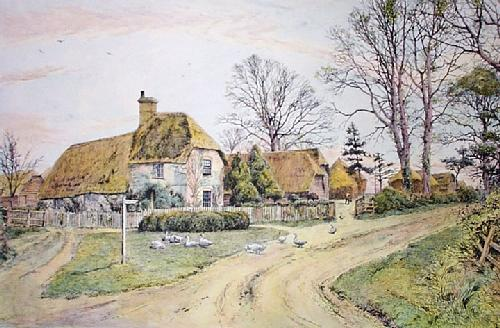 Farm in the New Forest (Restrike Etching) by Frederick Albert Slocombe