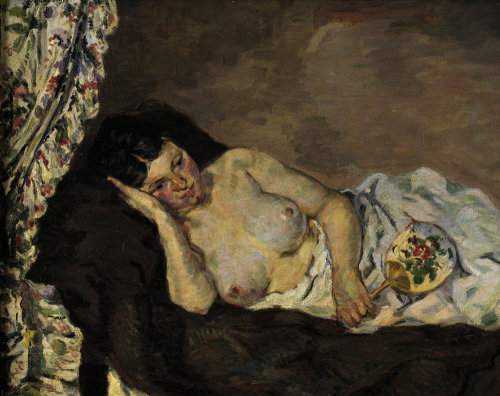 Reclining nude by Jean-Baptiste-Armand Guillaumin