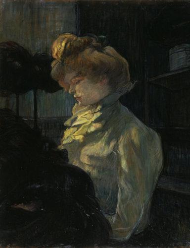 The Milliner - Mademoiselle Margouin by Henri de Toulouse-Lautrec