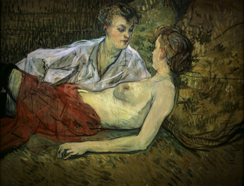 Two girlfriends by Henri de Toulouse-Lautrec