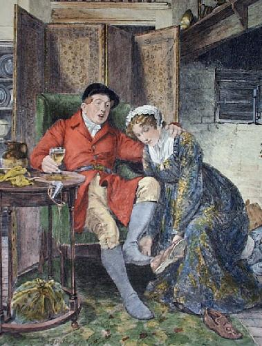 For All My Fancy Dwells On Nancy (Restrike Etching) by Walter Dendy Sadler